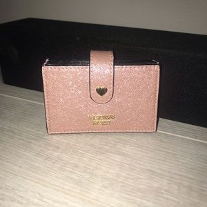 Victoria's Secret Rose Gold Accordion Card Case